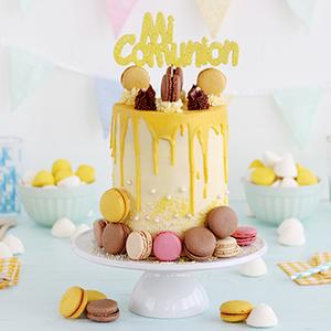 Tarta de Comunión Drip Cake