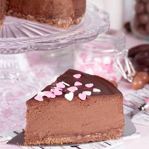 Tarta de queso y chocolate al horno ¡suave y deliciosa!