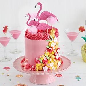 Tarta Cumpleaños Flamenco Rosa