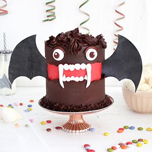 Tarta Halloween Vampiro Murciélago
