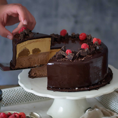 Tarta Helada de Chocolate y Dulce de Leche