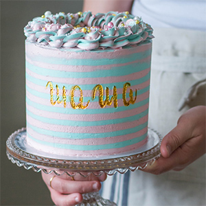 Striped Cake o Tarta de Rayas