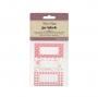 Pack 30 etiquetas adhesivas para Botes Vintage Pink