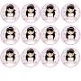12 Impresiones de Oblea Niña Comunión Morena B -- My Karamelli
