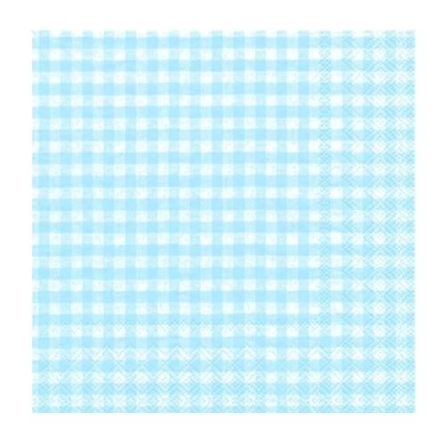 Servilletas Gingham blue