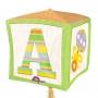 Globo nacimiento en forma de cubo