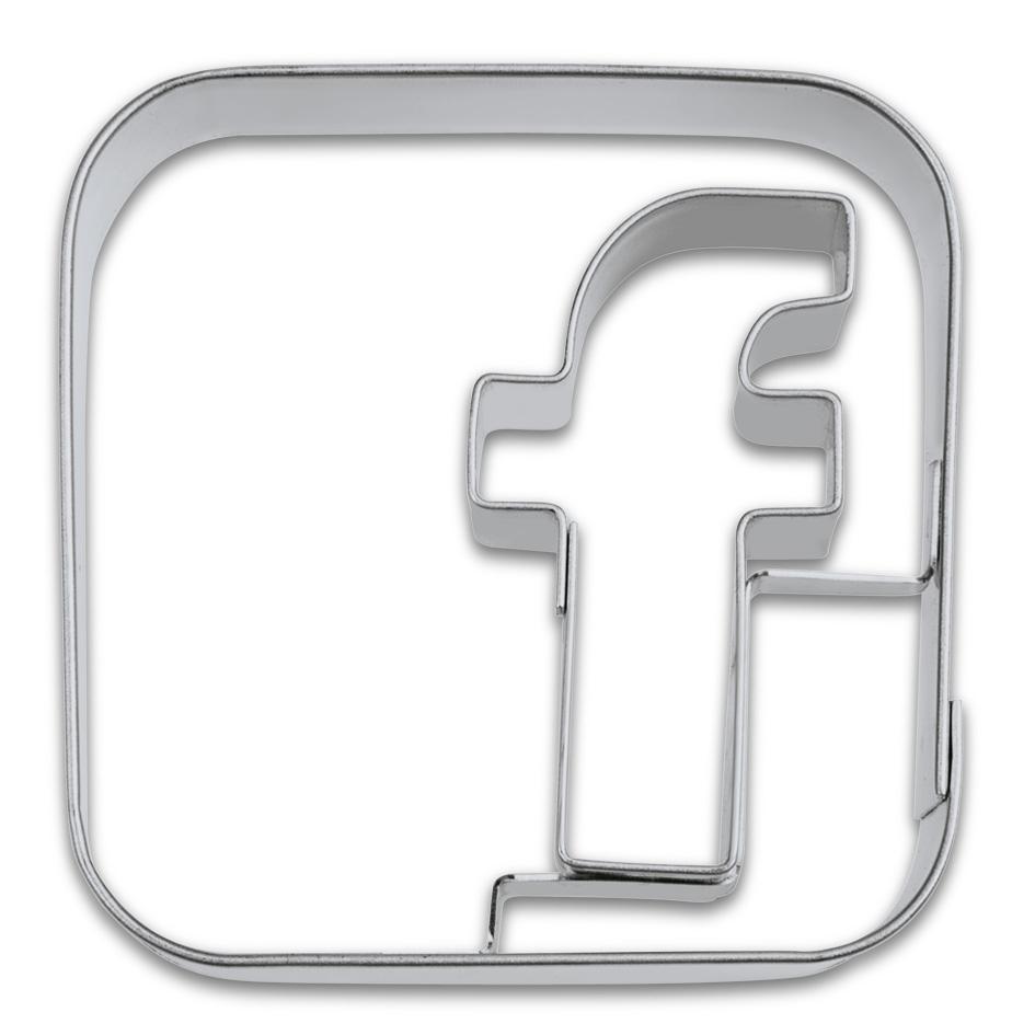 Cortador  Facebook de Acero Inox