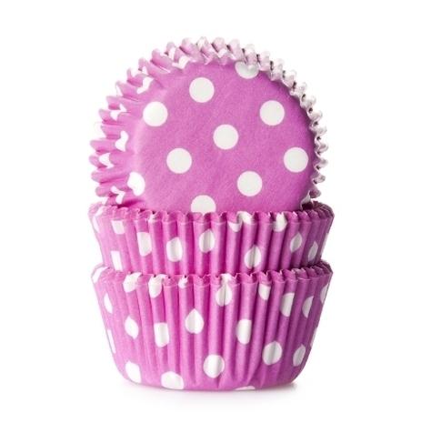 Cápsulas cupcakes Polkadots Pink