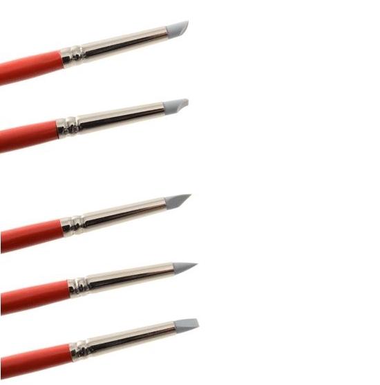 Kit de 5 Pinceles para Modelar de Silicona Nº 2