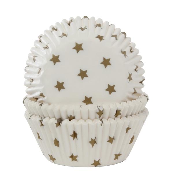 Cápsulas para cupcakes Gold Stars