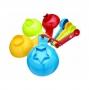 Juego de 8 tazas y cucharas medidoras Multicolor