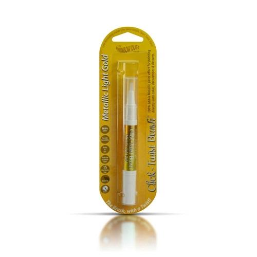 Pintura Comestible Pincel Click-twist Metallic Light Gold