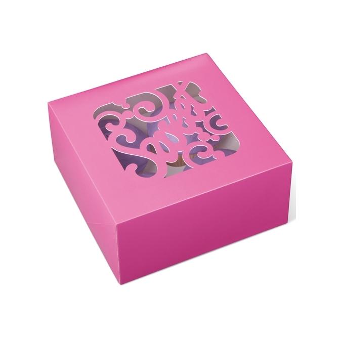Set de 3 cajas para 4 cupcakes Sweet Pink