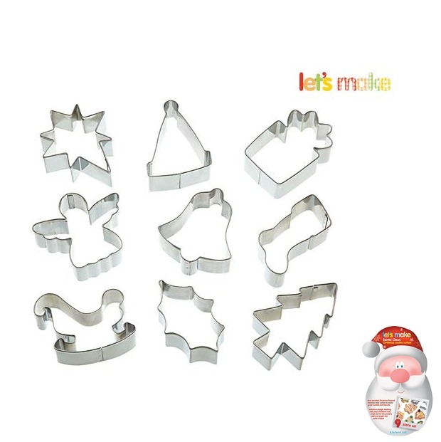 Set de 9 cortadores Santa Claus Kitchen Craft
