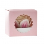Caja para 1 cupcake color rosa
