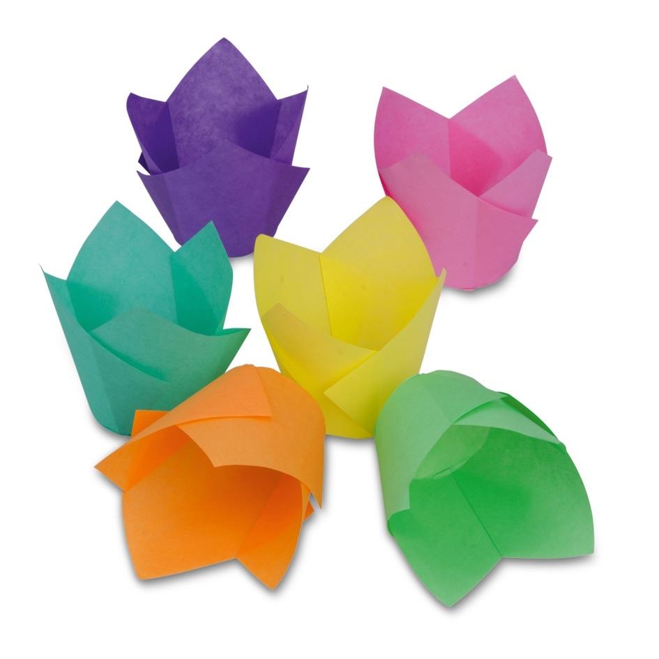 Pack de 12 Tulipas para Muffins de colores