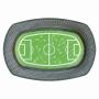 Bandeja para mesas dulces campo de fútbol de 24 cm