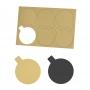 Bases de Cartón Plata/Oro 8 cm (12 uds) - My Karamelli