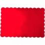 Bases Rectangulares Rojas 33x48cm