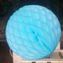Pompón Nido de Abeja azul turquesa 30 cm