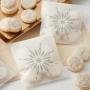 Set de 6 Bolsas de Papel para Dulces Copos de Nieve