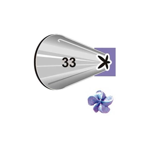 Boquilla # 33 estrella cerrada