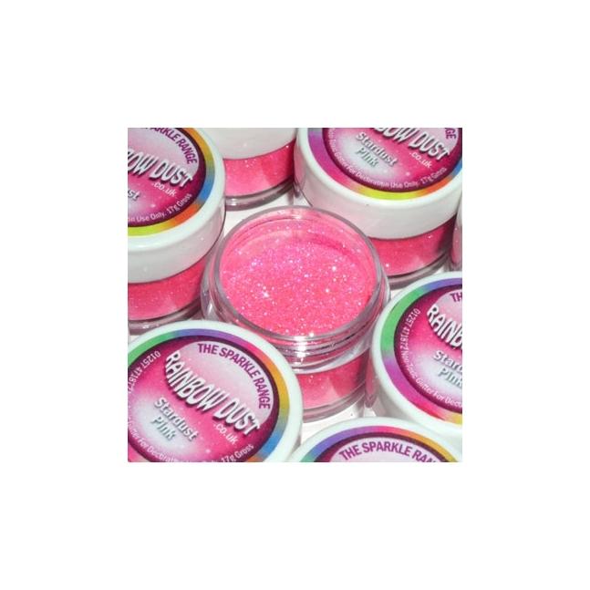 Purpurina decorativa Polvo de estrellas Rosa