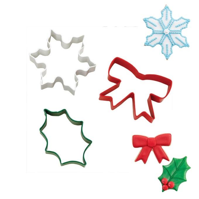 Set 3 Cortadores Dulce Navidad Wilton