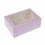 Caja para 6 cupcakes Rosa y Blanca 2 Unidades