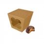 Caja para Galletas y Dulces Kraft 9 cm
