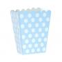 Caja para Palomitas Azul con Lunares Blancos - My Karamelli