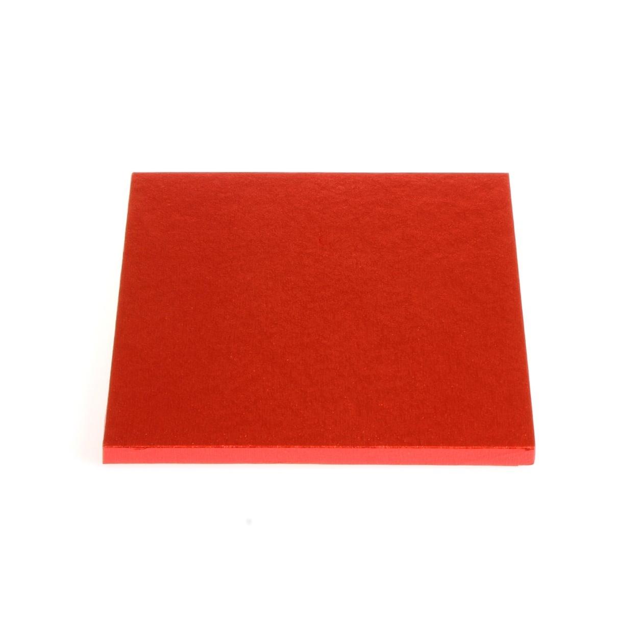 Cake Drum cuadrado rojo metalizado 25cm