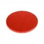 Cake drum redondo rojo metalizado 25cm