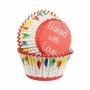 Cápsulas para cupcakes banderines de colores
