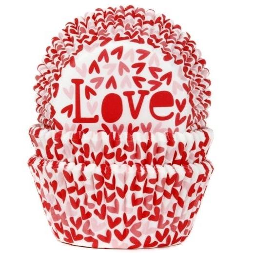 Cápsulas para Cupcakes Love House of Marie