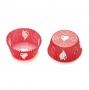 Cápsulas para cupcakes rojas con corazones
