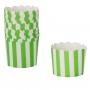 Cápsulas para Cupcakes Rayas Verdes y Blancas