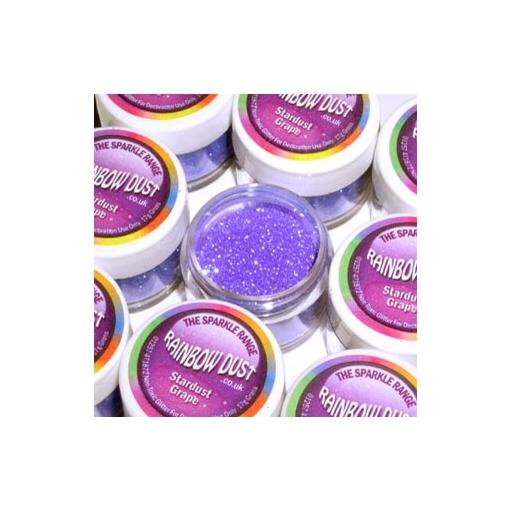 Purpurina decorativa polvo de estrellas grape