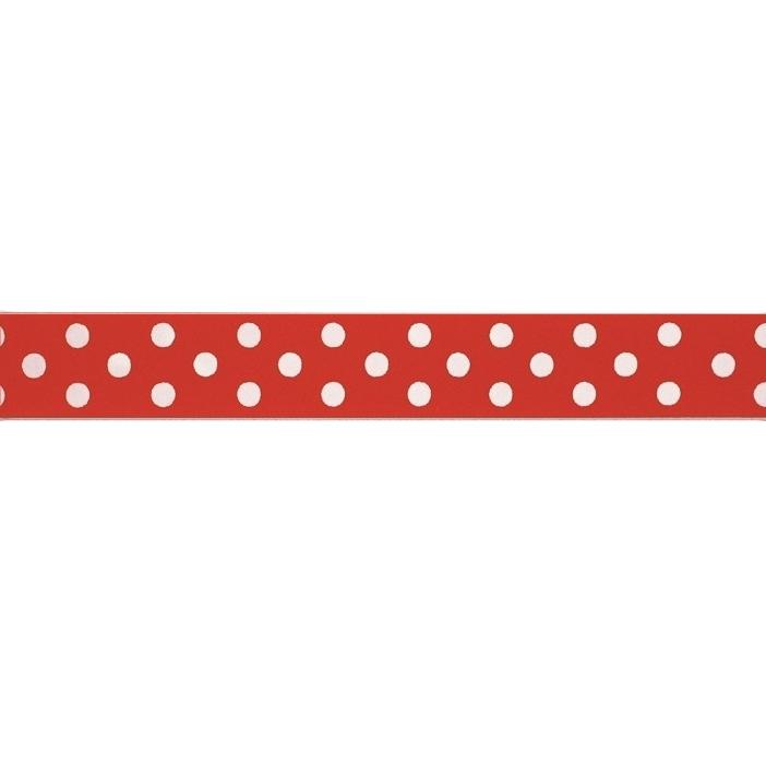 Cinta satinada Polka dot Red (2 mts)