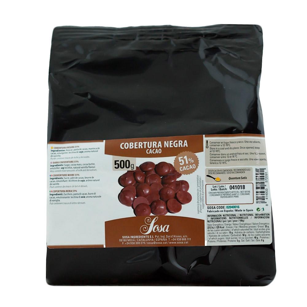 Cobertura Negra Premium 51% Home Chef 500gr