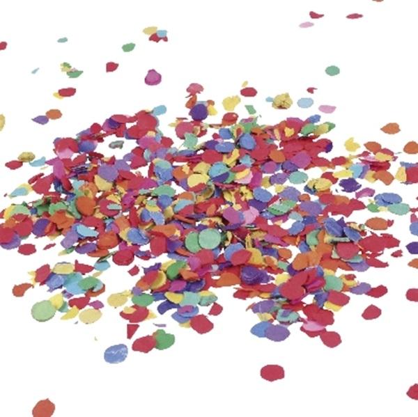 Confeti de papel multicolor 50 gr