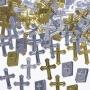 Confeti Metalizado Cruces y Biblias