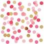 Confetti de Papel Rosa y Dorado