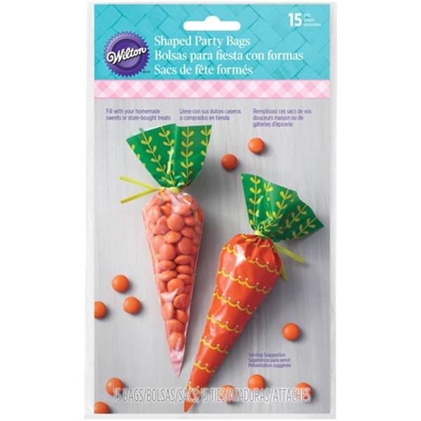 Juego de 15 Bolsas para Dulces Zanahoria
