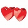 Contrapeso para globos doble corazón rojo