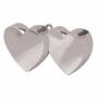 Contrapeso para globos doble corazón plata