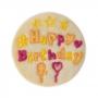 Cortador con Expulsor Happy Birthday 6,5 cm