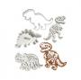 Set de 3 Cortadores con Texturizador Dinosaurios