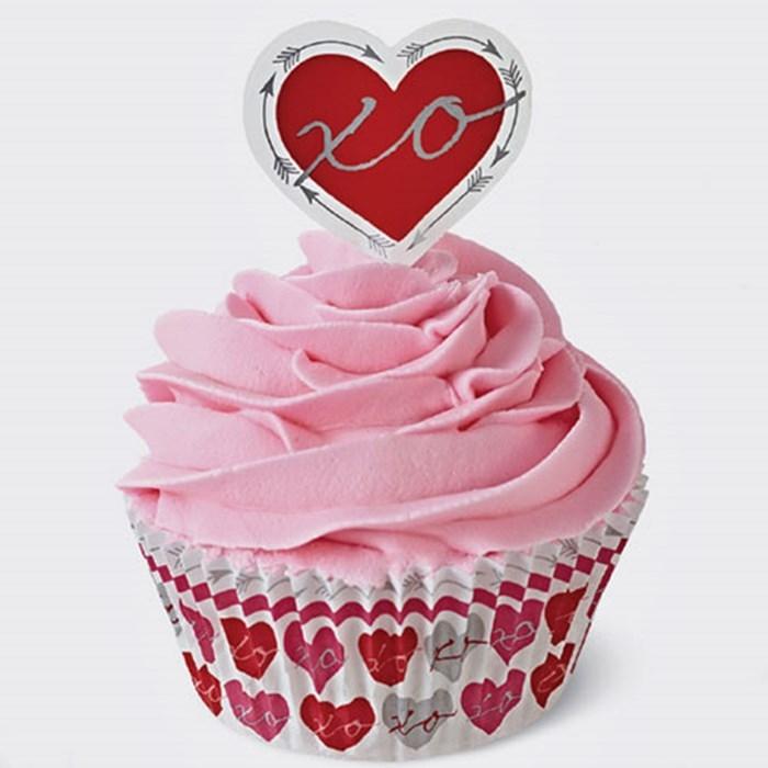 Combo cupcakes San Valentín Wilton
