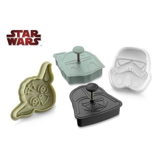 Set 4 cortadores Star Wars Heroes & villanos
